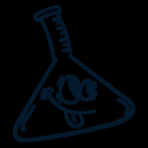 Chemistry flask stroke cartoon