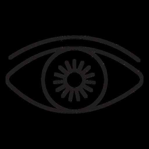 Open eye front stroke