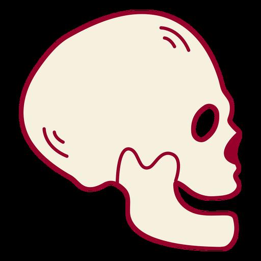 Skeleton head color stroke