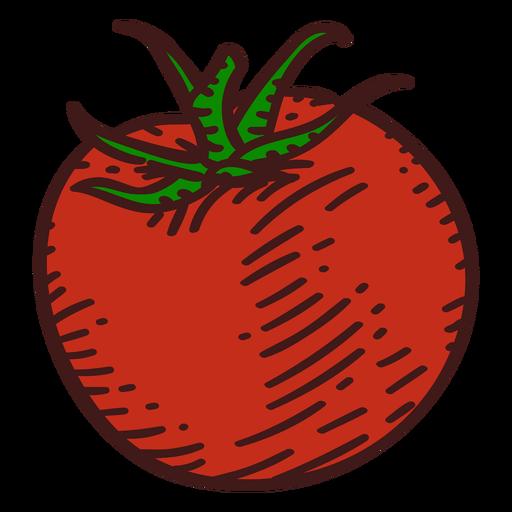 Tomato ingredient color stroke