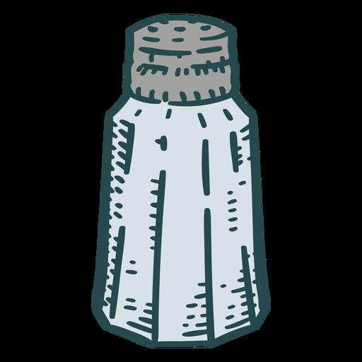 Salt shaker spice color stroke