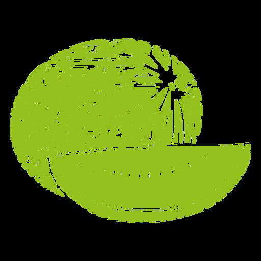 Watermelon fruit cut-out