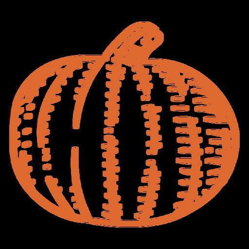 Pumpkin vegetable stroke