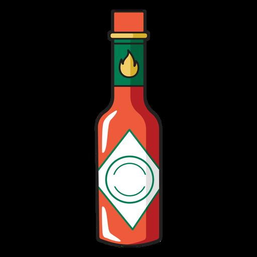 Tabasco sauce color stroke