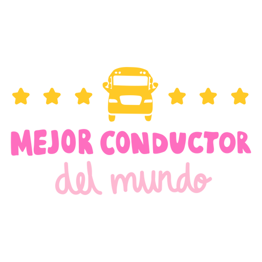 Mejor conductor spanish bus driver badge