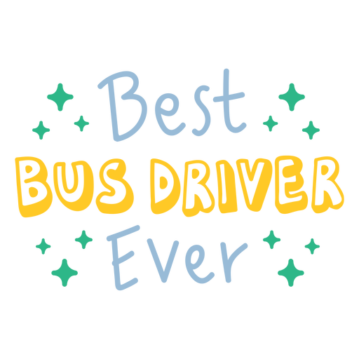 Best bus driver ever badge doodle