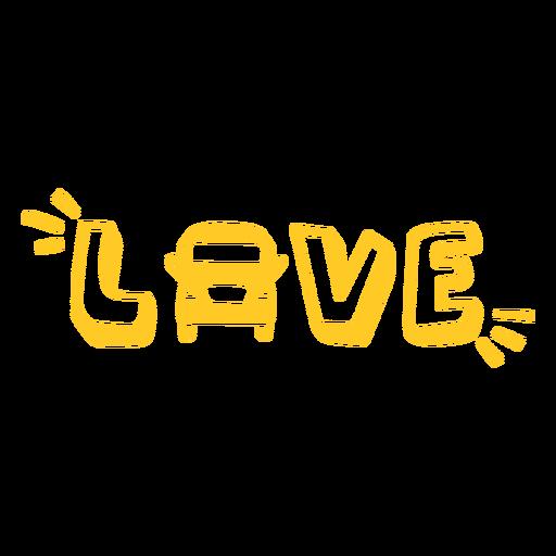 Love school bus badge filled stroke