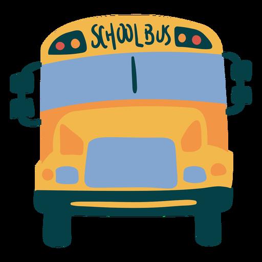 Simple flat school bus frontal