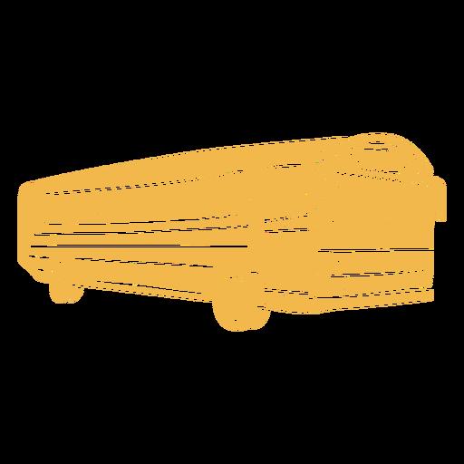 Big school bus color cut out