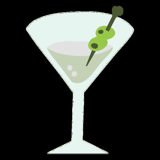 Martini glass color flat