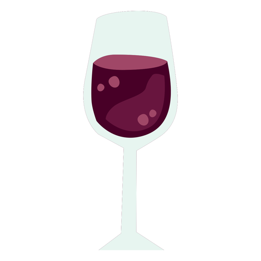 Wine glass color flat