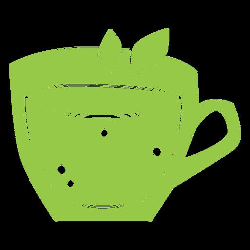 Green tea color cut out