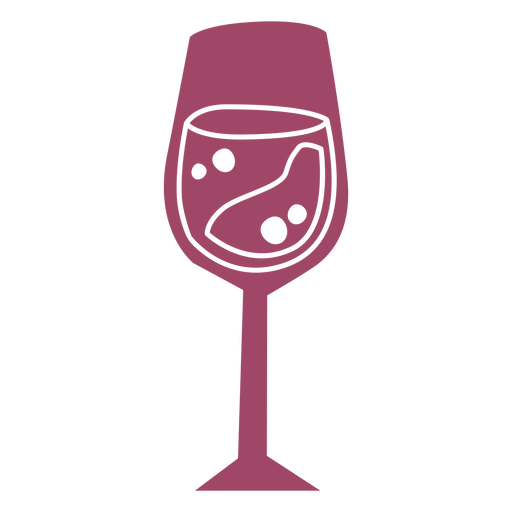 Wine glass color cut out