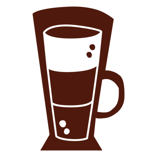 Long coffee cup cut out