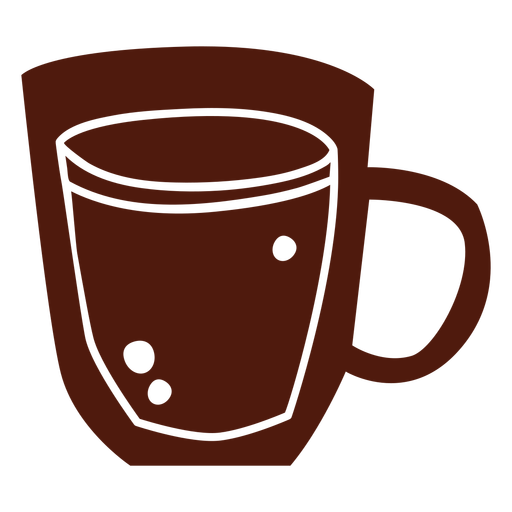 Simple coffee cup cut out