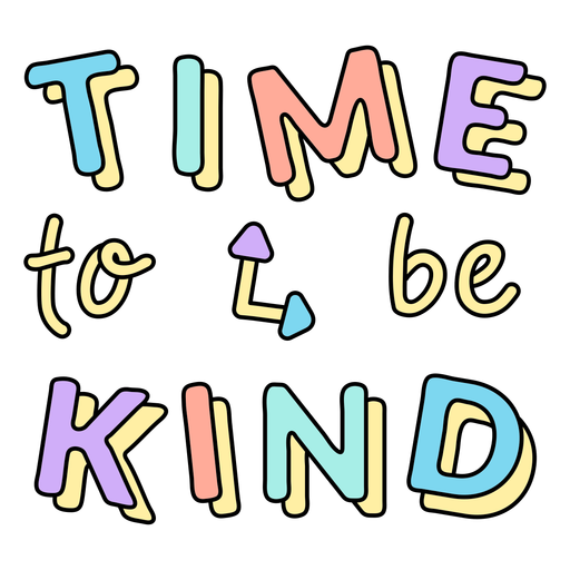 Time to be kind badge
