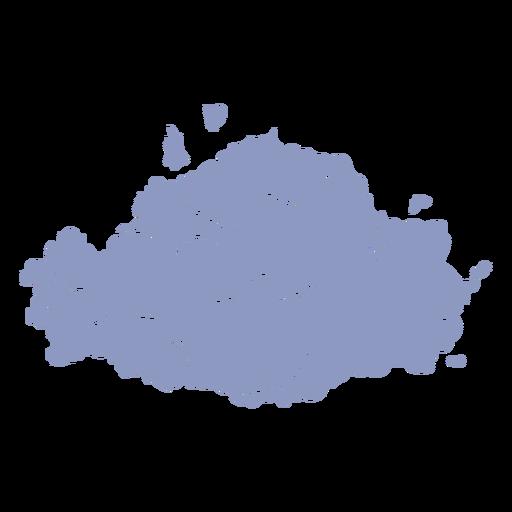 Gray cloud cut out