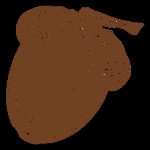 Brown acorn cut out