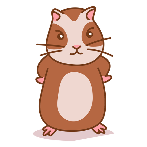 Angry cute hamster color