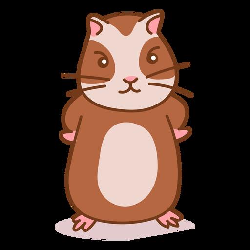 Cor de hamster fofinho zangado