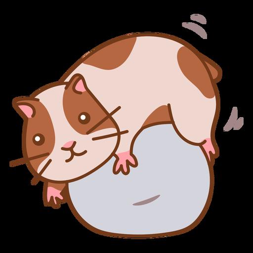 Hamster cute in rock color