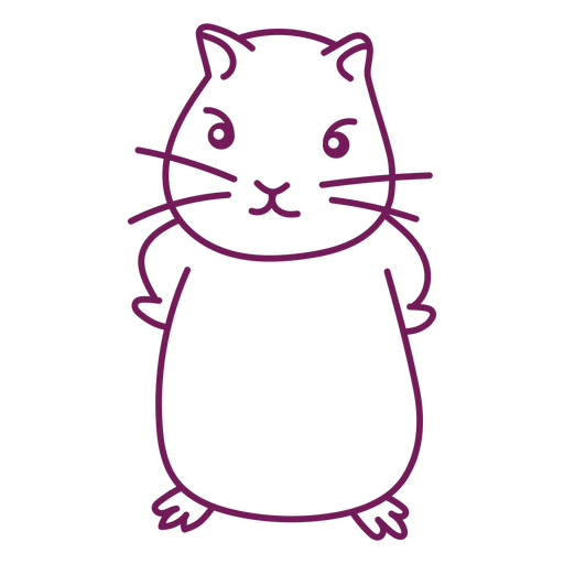 Angry cute hamster stroke