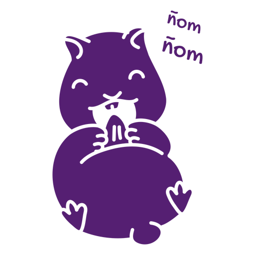 Eating cute hamster cut out