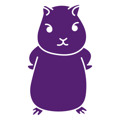 Angry cute hamster cut out