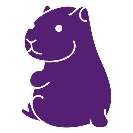 Sitting hamster cut out