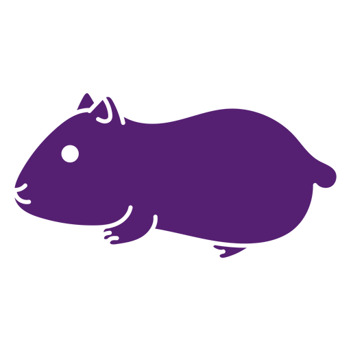 Side cute hamster cut out