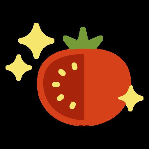 Sparkly tomato flat