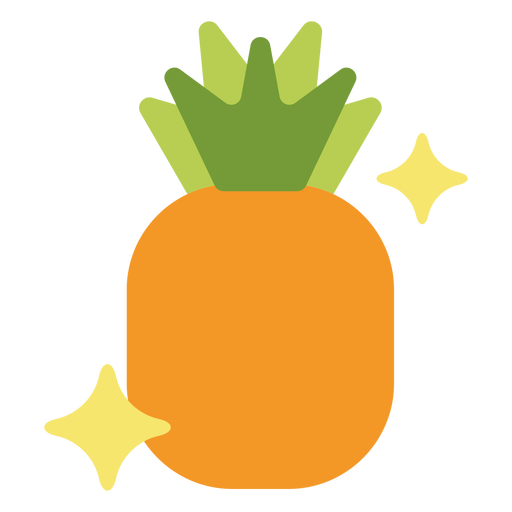 Sparkly pineapple flat