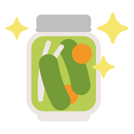 Sparkly pickle jar flat