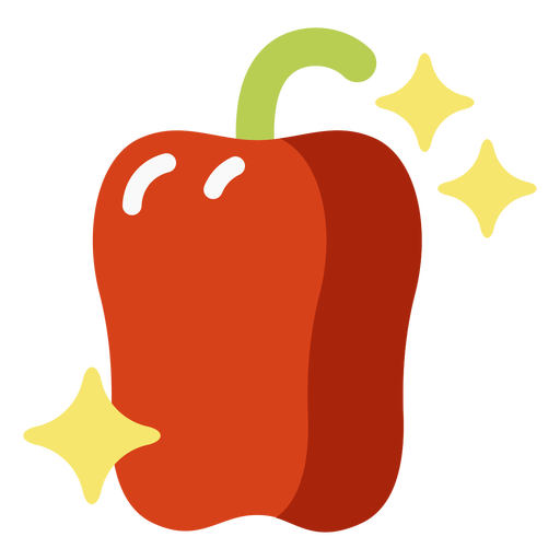Sparkly bell pepper flat
