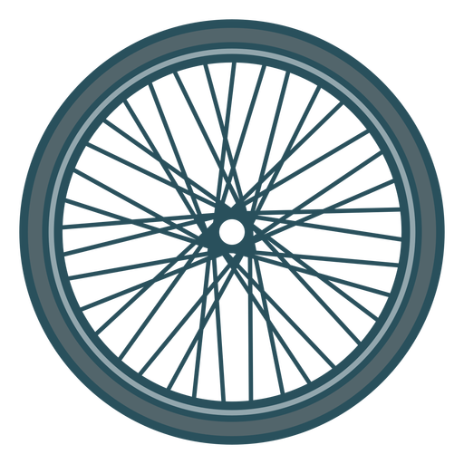 Bicicle wheel color stroke