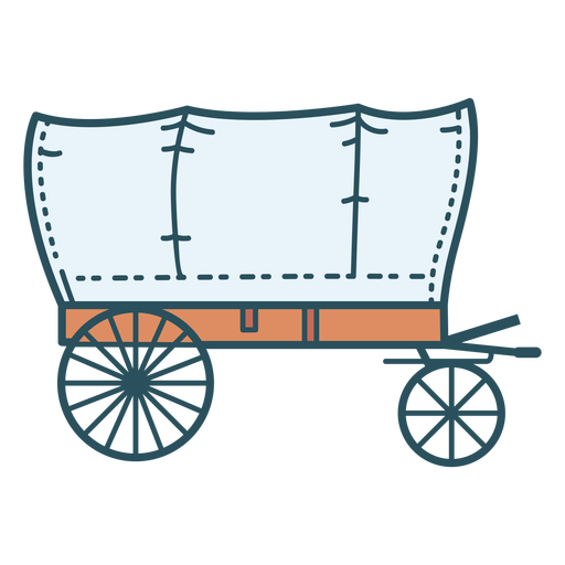 Old cart color stroke