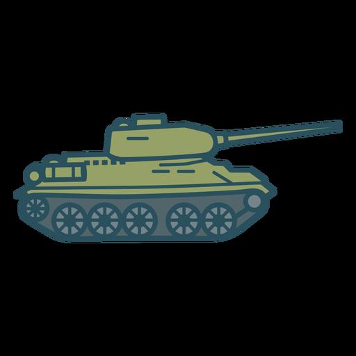 Military tank color stroke