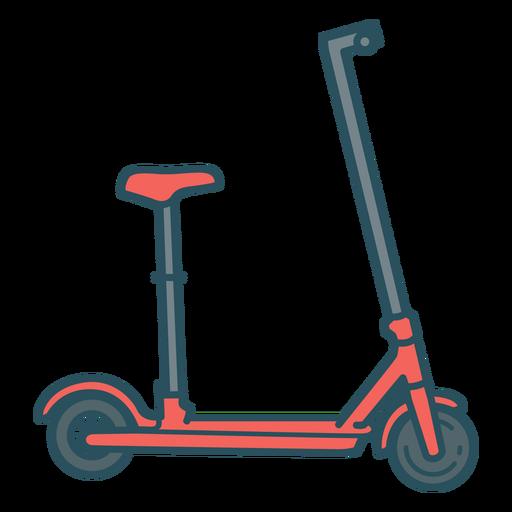 Scooter transport color stroke