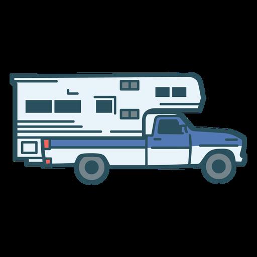 Camper truck color stroke