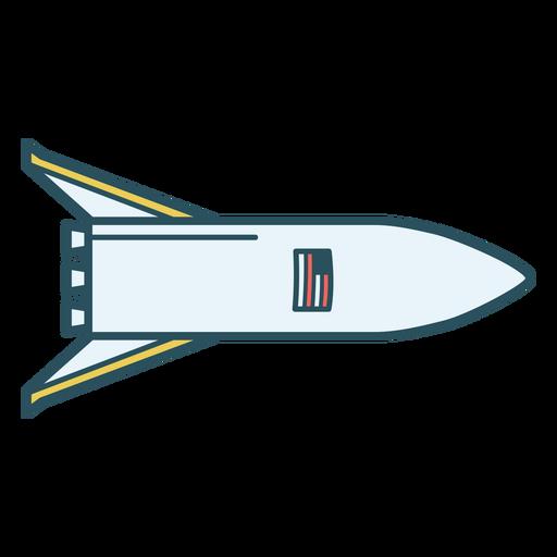 American rocket ship color stroke