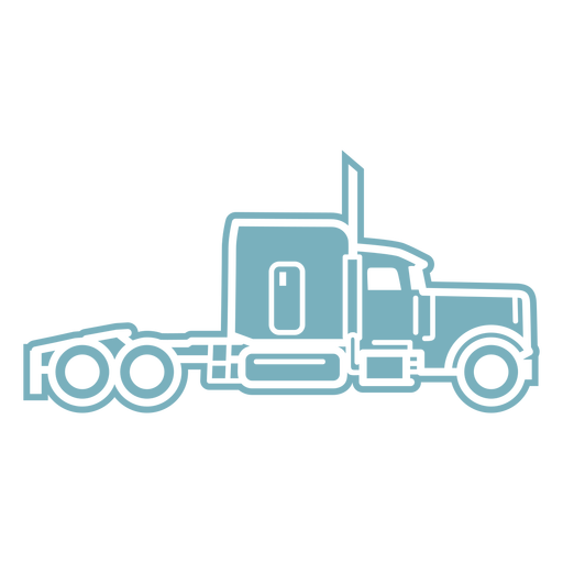 Tractor truck transport cut-out