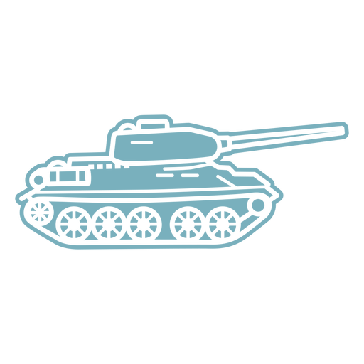 Military tank cut-out