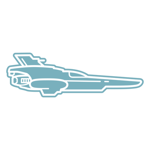 Spaceship flying cut-out
