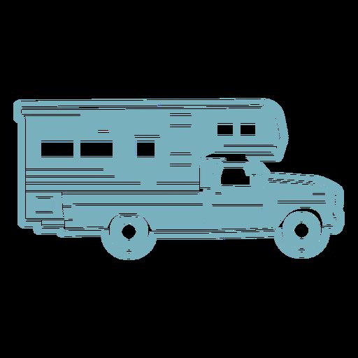 Camper truck cut-out