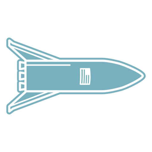 American rocket ship cut-out