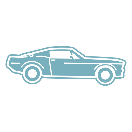 Sports car side view cut-out