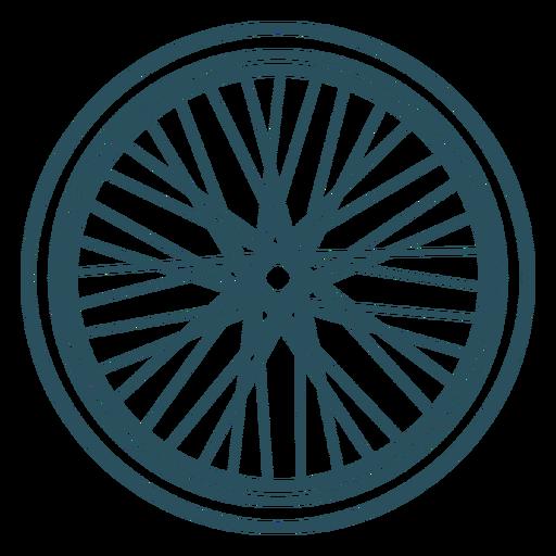 Bicycle wheel stroke