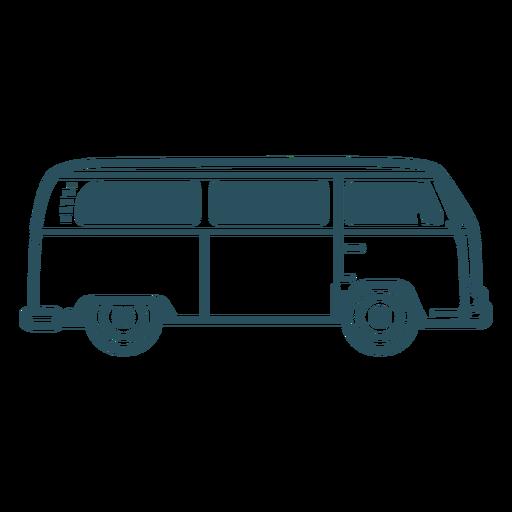 Microbus hippie van stroke