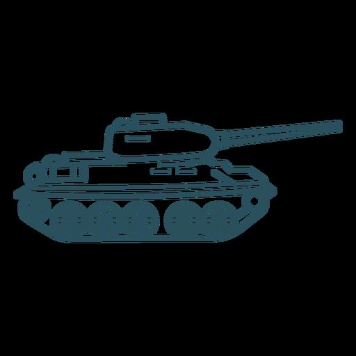 Military tank stroke