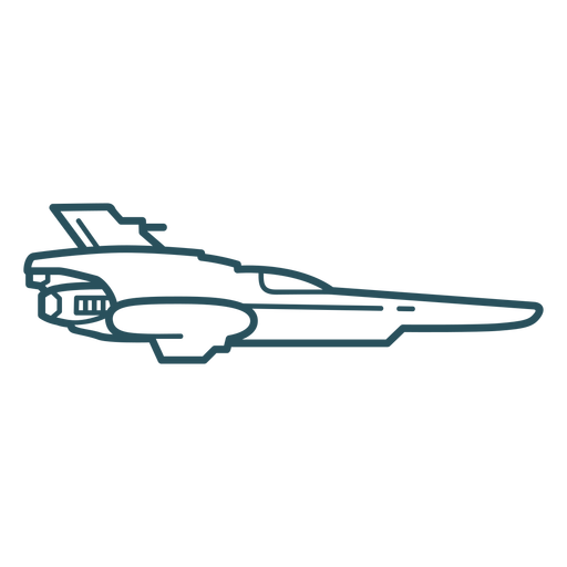 Spaceship flying stroke